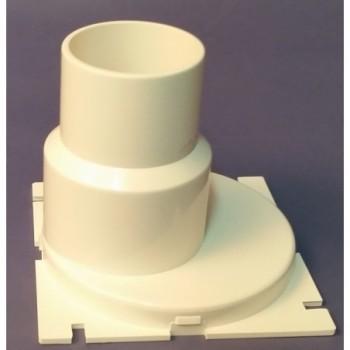 Kunststoffstutzen für WC-Schalenabsaugung DN 40/50mm