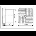 Kleinraumventilator AWC 15 T